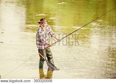 If Wishes Were Fishes. Hobby And Sport Activity. Pothunter. Retired Bearded Fisher. Trout Bait. Summ