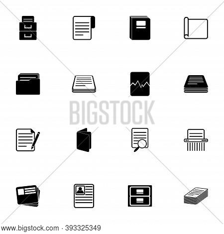 Document Icon - Expand To Any Size - Change To Any Colour. Perfect Flat Vector Contains Such Icons A