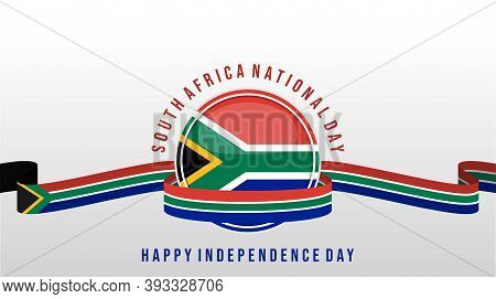 South Africa Independence Day Design With South Africa Flag Emblem Vector Illustration. Good Templat