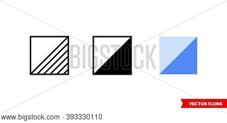 Orienteering Control Flag Icon Of 3 Types Color, Black And White, Outline. Isolated Vector Sign Symb