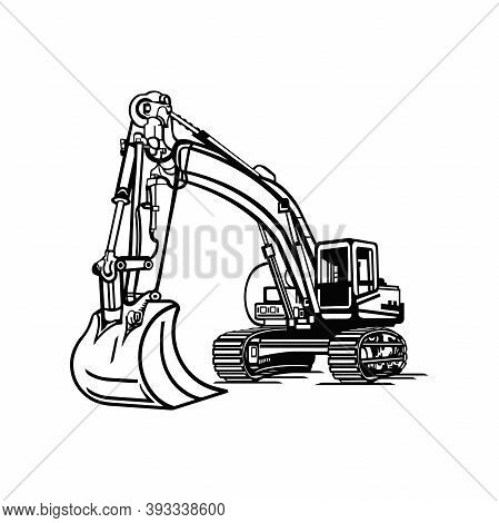 Excavator Dig Digger Machine Equipment - Construction Vehicle - Builder Building Build Fix Logo