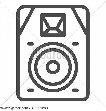 Audio Speaker Line Icon, Sound Design Concept, Sound Loud Speaker Sign On White Background, Subwoofe