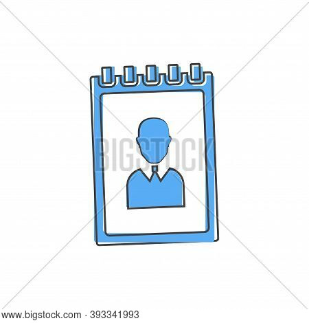 Phone Book. Vector Icon Of A Notebook For Recording Telephone Numbers Cartoon Style On White Isolate