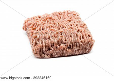 Minced Meat Isolated On White Background Cut Out