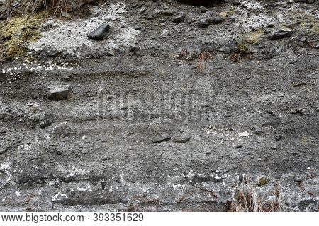Detail Of Layers And Structure Of Volcanic Ash (tuff)