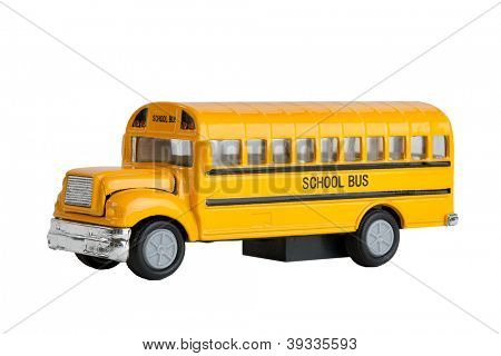 Die Cast Model Toy Of A North American And Canadian Yellow School Bus