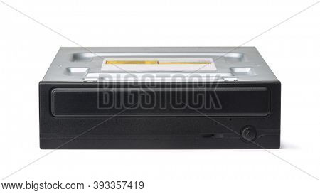 Front view of DVD-RW SATA Internal optical drive isolated on white