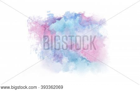 Watercolor Texture. Pink And Blue Watercolor Splashes. Element Design. Watercolor Background. Abstra