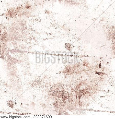Pale Abstract Grunge Wall. Brown Rough Background. Art Dirt Brush Effect. Retro Grain Paper. Graphic