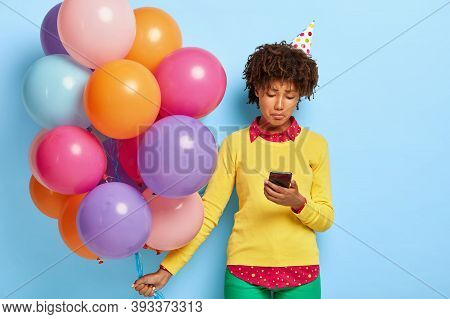 Sullen Dejected Dark Skinned Woman Feels Sad On Her Birthday, Doesnt Receieve Congratulation From Bo