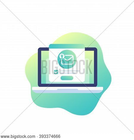 Encrypted Message, Mail Security Vector Icon, Eps 10 File, Easy To Edit