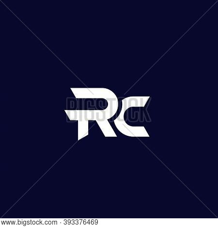 Rc Letters Logo Design, Vector, Eps 10 File, Easy To Edit
