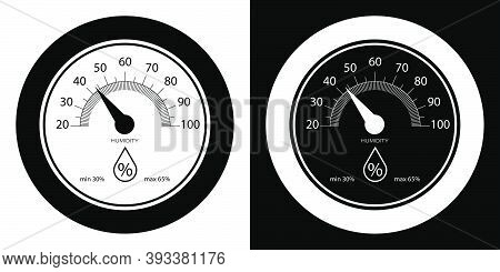 Hygrometer, Wall Mounted Analog Controller For Indoor Air Humidity. Comfortable Air Humidity In Apar