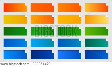 Common Color Gradients Pack Of Orange Green And Blue Shade