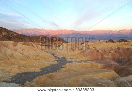 Sunrise In Zabriskie Point