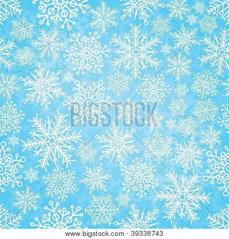 Seamless Pattern With New Year's Snowflakes