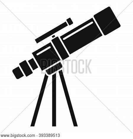 Planetarium Telescope Icon. Simple Illustration Of Planetarium Telescope Vector Icon For Web Design