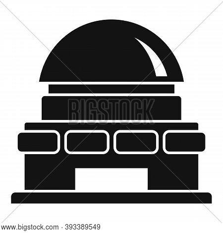 Lens Planetarium Icon. Simple Illustration Of Lens Planetarium Vector Icon For Web Design Isolated O