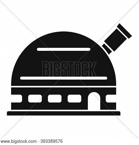 Spyglass Planetarium Icon. Simple Illustration Of Spyglass Planetarium Vector Icon For Web Design Is