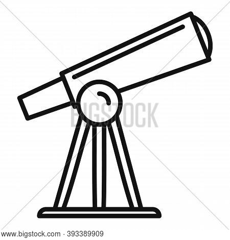 Discovery Telescope Icon. Outline Discovery Telescope Vector Icon For Web Design Isolated On White B