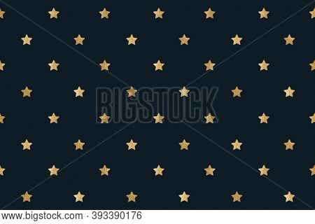 Seamless glittery gold stars background