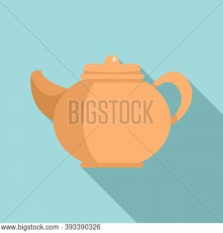 Ceramic Tea Pot Icon. Flat Illustration Of Ceramic Tea Pot Vector Icon For Web Design