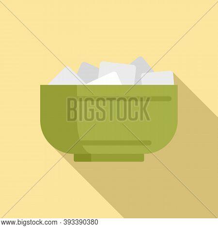 Tea Ceremony Bowl Sugar Icon. Flat Illustration Of Tea Ceremony Bowl Sugar Vector Icon For Web Desig