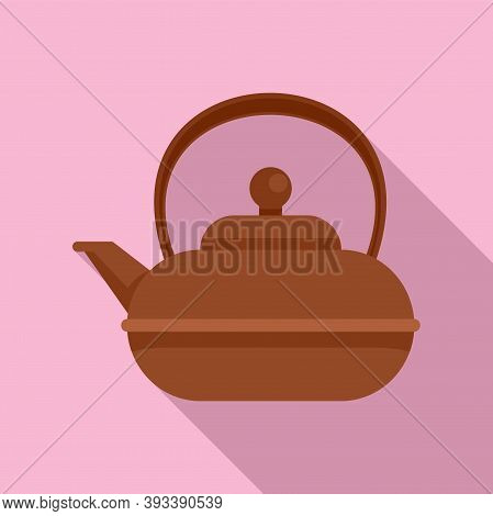 Aromatic Tea Pot Icon. Flat Illustration Of Aromatic Tea Pot Vector Icon For Web Design