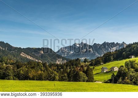 Alpstein Massif And Saentis Mountain, Toggenburg, Canton St. Gallen, Switzerland