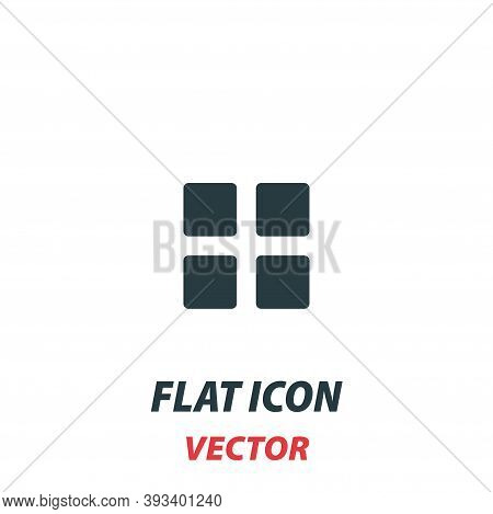 Mobile Apps Icon In A Flat Style. Vector Illustration Pictogram On White Background. Isolated Symbol
