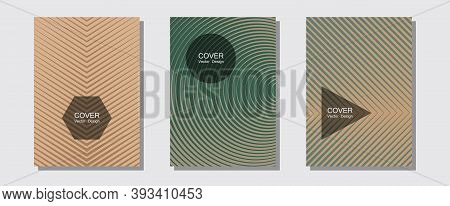 Geometric Design Templates For Banners, Covers. Music Placards. Halftone Lines Music Poster Backgrou