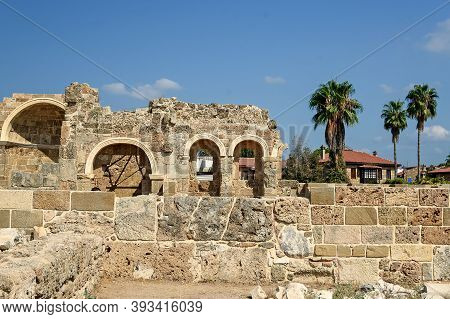 Old Ruins In Side, Ancient City-background Of Archeology