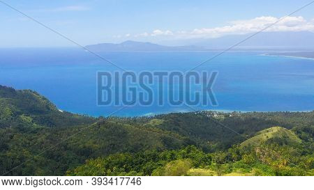 The Coast Of Mindanao Island Is Covered With Rainforest, With Beaches And Blue Sea. Philippines, Min
