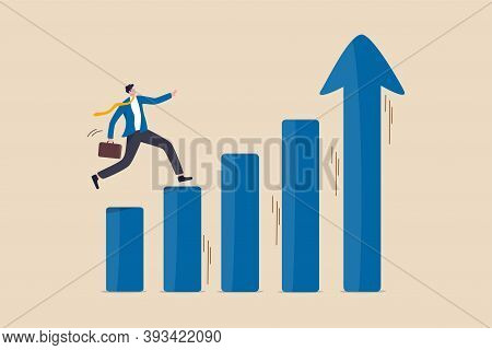 Economic Prosperity, Business Profit Growth Or Career Path And Income Increase Concept, Confidence S