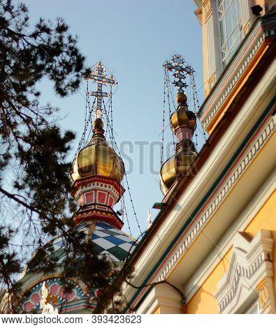 Almaty, Kazakhstan - October 25 2013: Crosses Of The Orthodox Church