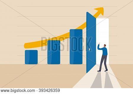 Business Success Secret, Idea To Growing Business And Achieve Target Concept, Smart Businessman Open