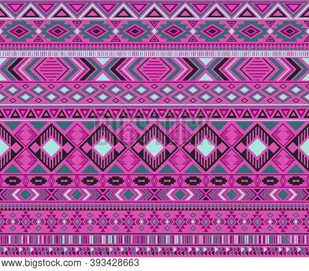 Peruvian American Indian Pattern Tribal Ethnic Motifs Geometric Seamless Background. Impressive Nati