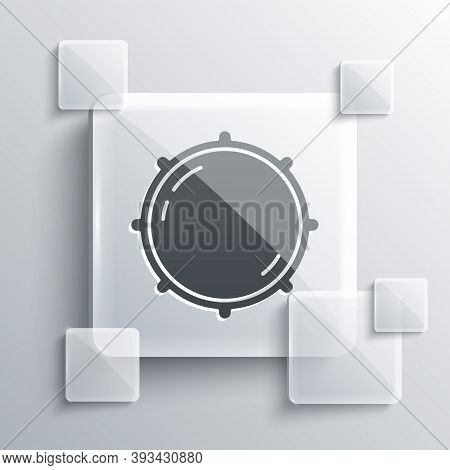 Grey Dial Knob Level Technology Settings Icon Isolated On Grey Background. Volume Button, Sound Cont