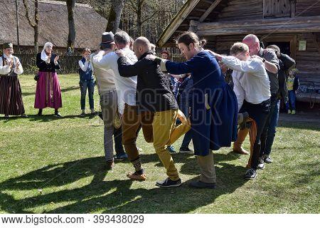 Latvian Folk Dance Of Men To The Latvian Ethnographic Museum