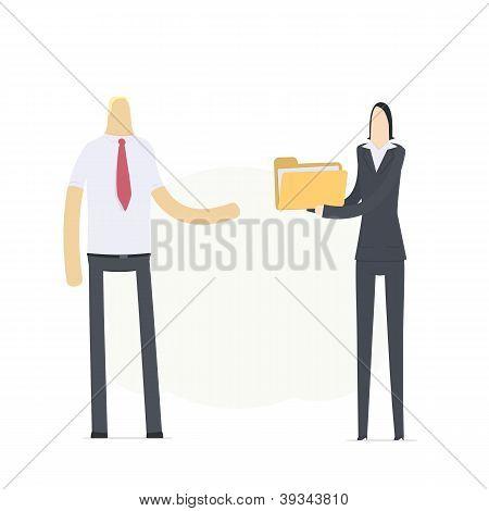 secretary sends important documents