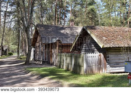 An Old Wooden House In The Latvian Ethnographic Museum