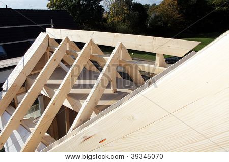 Roof Structure From Above