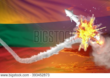 Strategic Rocket Destroyed In Air, Lithuania Supersonic Missile Protection Concept - Missile Defense