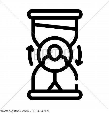 Ovretime Work Line Icon Vector Illustration Sign