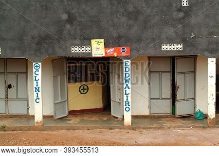Kampala, Uganda - August 24, 2010: A Small Hospital In Kampala Outskirts In The Central Region Of Af