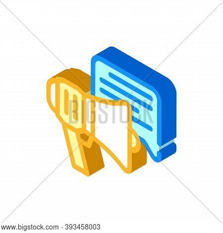 Advert Loudspeaker Isometric Icon Vector Illustration Sign
