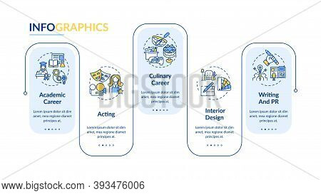 Top Careers For Creative Thinkers Vector Infographic Template. Academic Career Presentation Design E