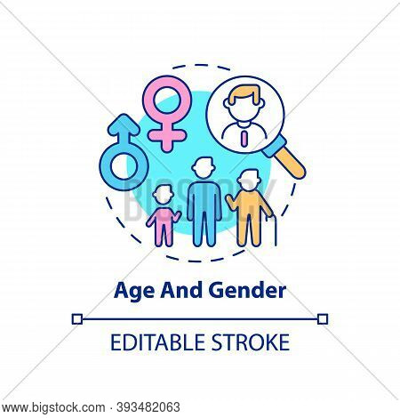 Age And Gender Concept Icon. Insurance Cost Factors. Different Service Plans For People Types Variet
