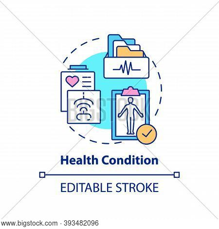 Health Condition Concept Icon. Insurance Cost Factors. Different Diseases Price. High Cost For Medic
