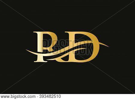 Rd Modern Creative Unique Elegant Minimal. Rd Initial Based Letter Icon Logo. Rd Logo Design